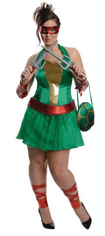 Womens Plus Size Ninja Turtles Raphael Costume - HalloweenCostumes4U.com - Adult Costumes