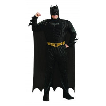 Mens Plus Size Deluxe Batman Costume - HalloweenCostumes4U.com - Adult Costumes