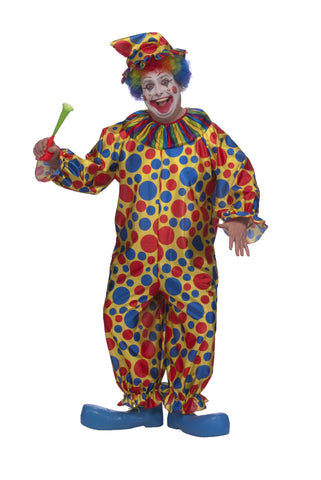 Adults Plus Size Clown Costume - HalloweenCostumes4U.com - Adult Costumes