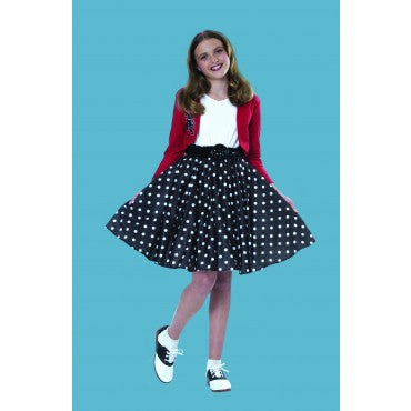 Girls Polka Dot Rocker Costume - HalloweenCostumes4U.com - Kids Costumes