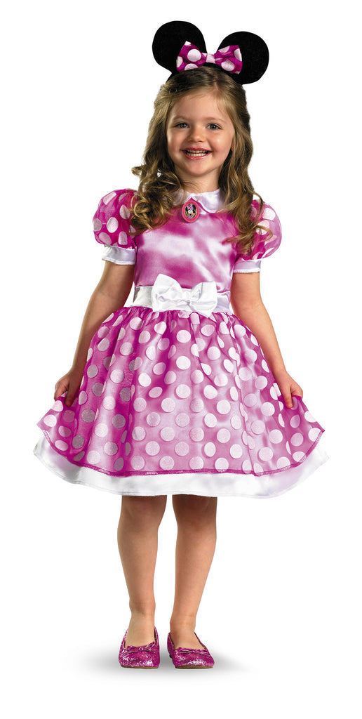 Girls Classic Pink Minnie Mouse Costume - HalloweenCostumes4U.com - Kids Costumes