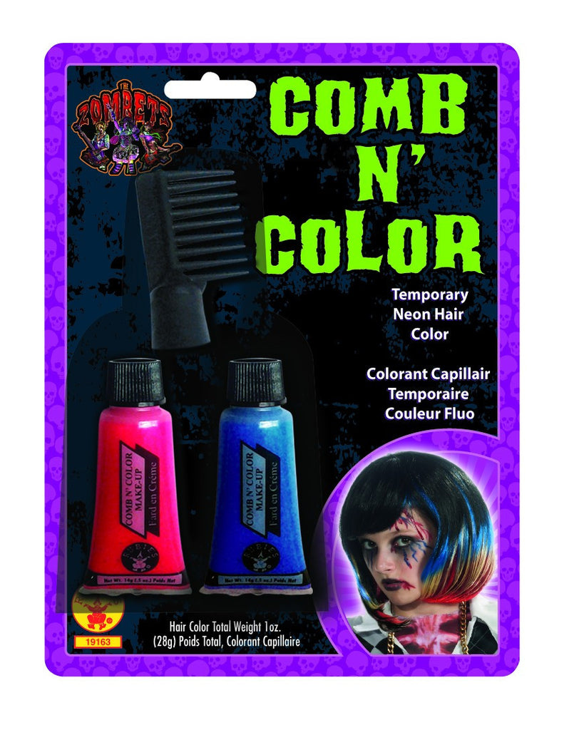 Zombie Comb & Color Hair Dye - HalloweenCostumes4U.com - Accessories