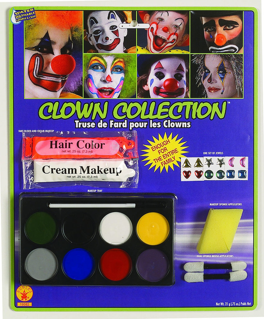 Deluxe Clown Makeup Kit - HalloweenCostumes4U.com - Accessories