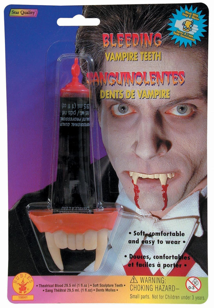Bleeding Vampire Teeth - HalloweenCostumes4U.com - Accessories