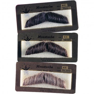 Gentlemans Moustache - Various Colors - HalloweenCostumes4U.com - Accessories