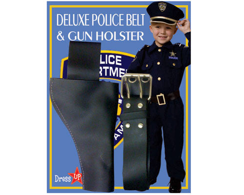 Police Officer Belt & Gun Holster - HalloweenCostumes4U.com - Accessories