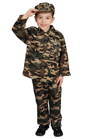 Kids/Toddlers Army Soldier Costume - HalloweenCostumes4U.com - Kids Costumes
