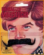 Black Waxed Moustache - HalloweenCostumes4U.com - Accessories