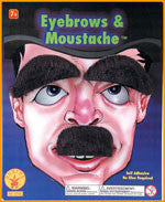 Small Moustache and Eyebrows Set - HalloweenCostumes4U.com - Accessories