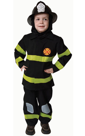 Kids/Toddlers Deluxe Fire Fighter Costume - HalloweenCostumes4U.com - Kids Costumes