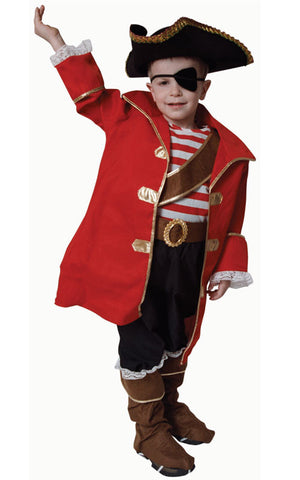 Kids/Toddlers Pirate Captain Costume - HalloweenCostumes4U.com - Kids Costumes