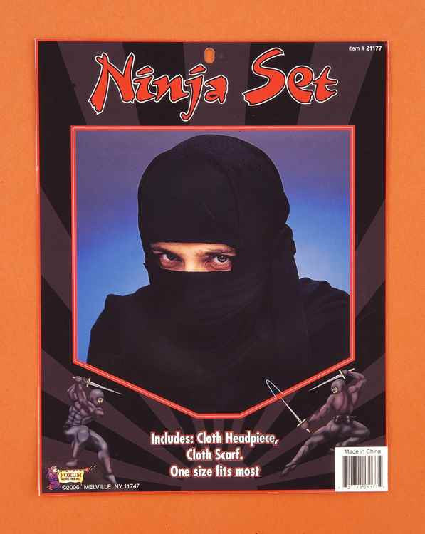 Ninja Headpiece Costume Headwear - HalloweenCostumes4U.com - Accessories