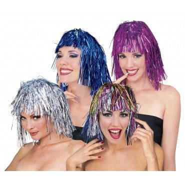 Tinsel Wig - Various Colors - HalloweenCostumes4U.com - Accessories