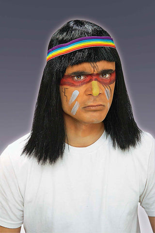 Native American Brave Wig - HalloweenCostumes4U.com - Accessories