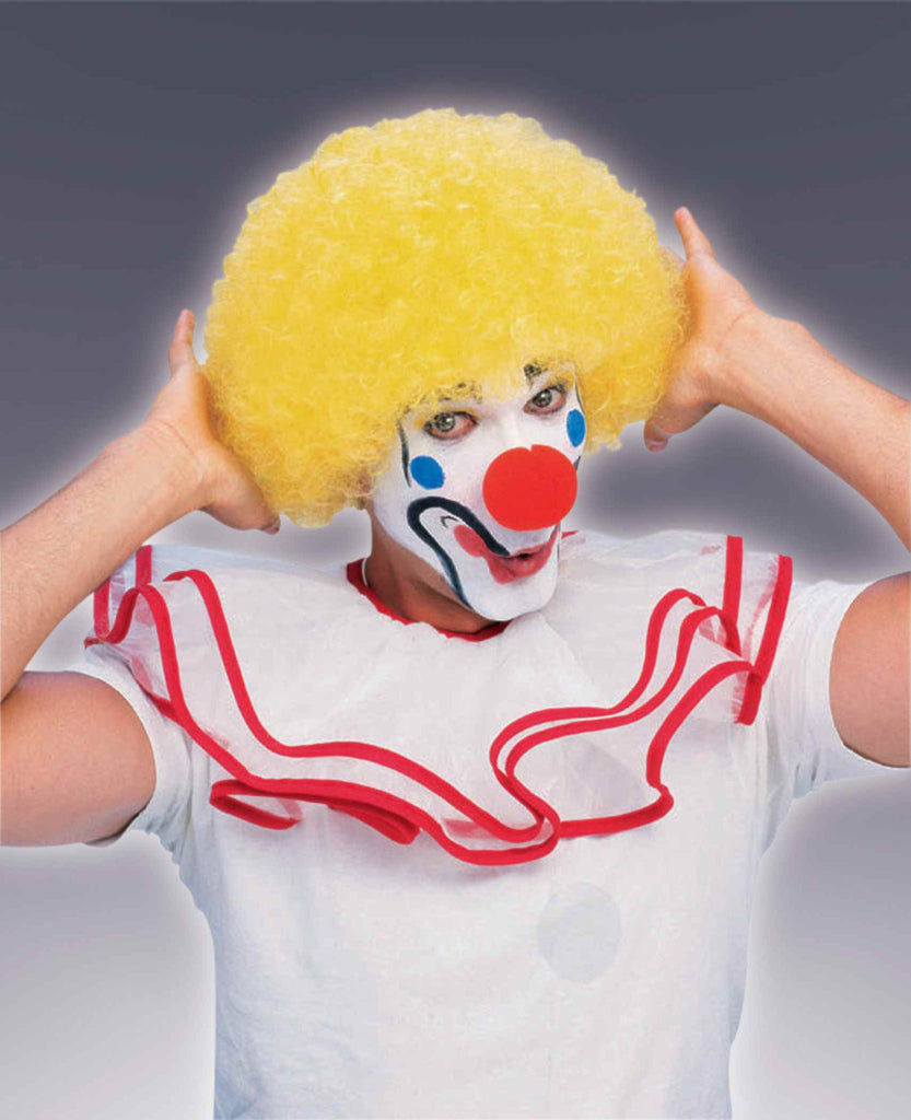Clown Wigs Yellow Afro Clown Costume Wigs - HalloweenCostumes4U.com - Accessories