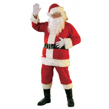 Mens Flannel Santa Suit - HalloweenCostumes4U.com - Adult Costumes