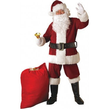 Mens Crimson Regency Plush Santa Suit - HalloweenCostumes4U.com - Adult Costumes