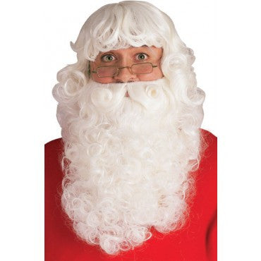 Deluxe Santa Beard and Wig Set - HalloweenCostumes4U.com - Accessories