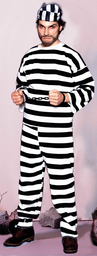 Halloween Costumes Convict Deluxe Adults Costume