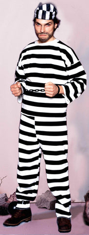Halloween Costumes Convict Deluxe Adults Costume - HalloweenCostumes4U.com - Adult Costumes