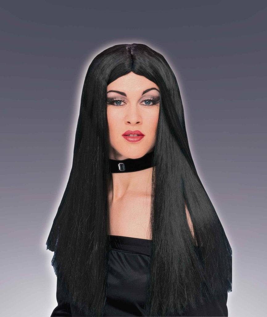 Halloween Wigs Long Black Costume Wigs - HalloweenCostumes4U.com - Accessories