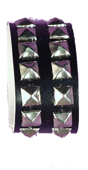 Adults Double Studded Wrist Band