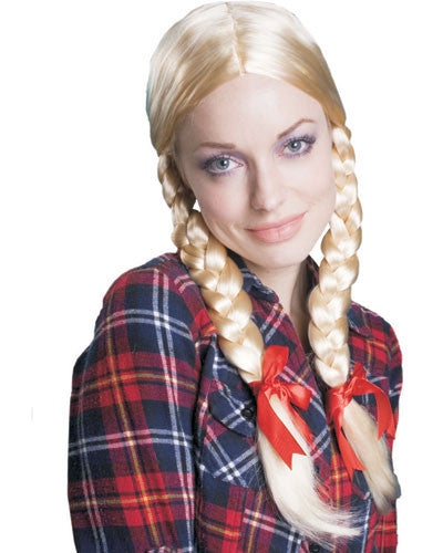 Blonde Braided Ponytail Wig - HalloweenCostumes4U.com - Accessories