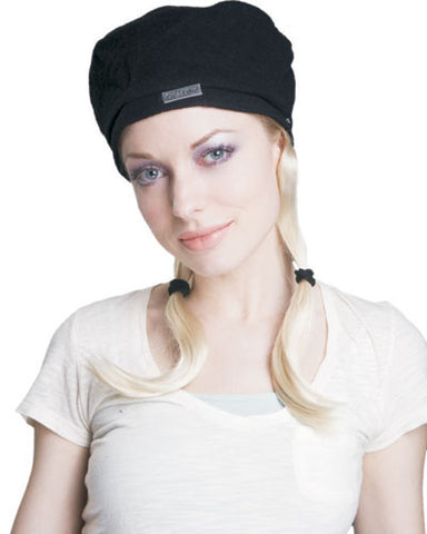 Black Hat with Blonde Pigtails - HalloweenCostumes4U.com - Accessories