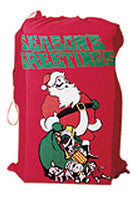 Flannel Printed Santa Bag - HalloweenCostumes4U.com - Accessories