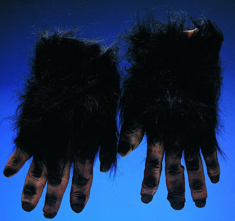 Black Hairy Hand Gloves - HalloweenCostumes4U.com - Accessories