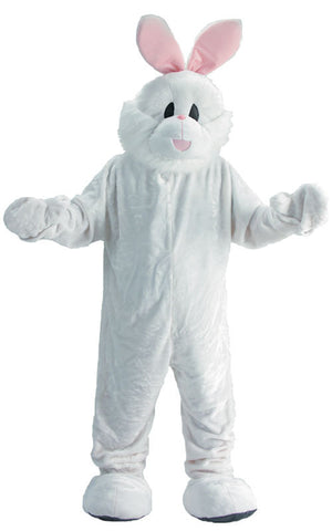 Adults White Bunny Mascot Costume - HalloweenCostumes4U.com - Adult Costumes