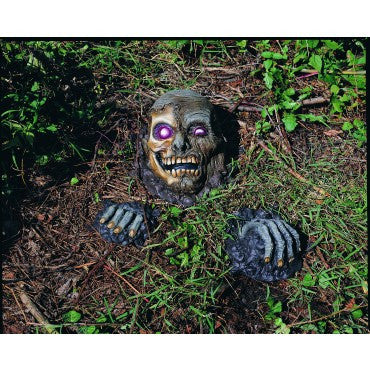 Full Skull Yard Prop - HalloweenCostumes4U.com - Decorations