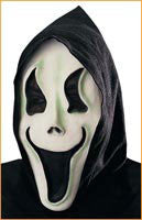 Glow in the Dark Surprised Ghost Mask - HalloweenCostumes4U.com - Accessories