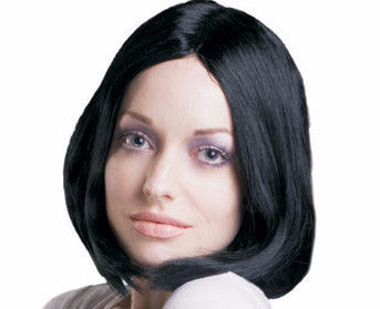 Black Straight Hair Wig - HalloweenCostumes4U.com - Accessories
