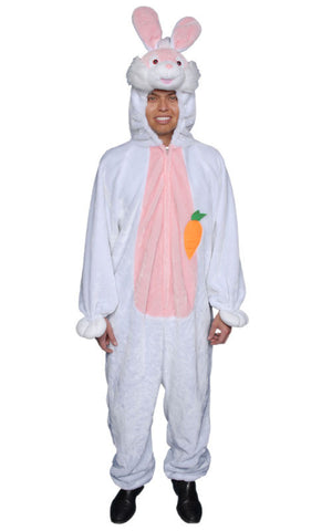 Adults White Bunny Costume - HalloweenCostumes4U.com - Adult Costumes