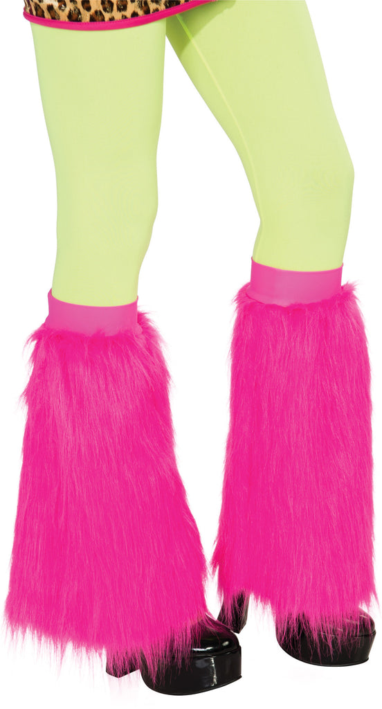 Adults Pink Fluffy Leg Warmers - HalloweenCostumes4U.com - Accessories