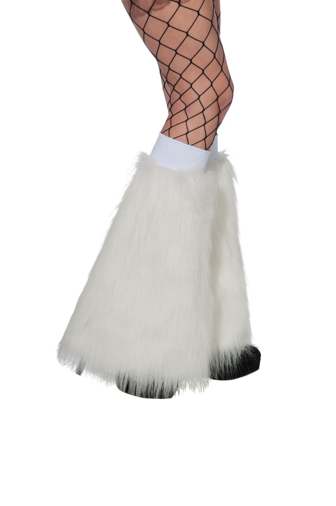 White Fluffy Leg Warmers - HalloweenCostumes4U.com - Accessories