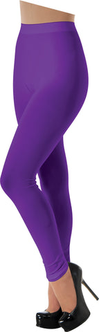 Adults Purple Leggings - HalloweenCostumes4U.com - Accessories