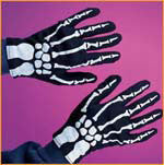 Kids Skeleton Gloves - HalloweenCostumes4U.com - Accessories
