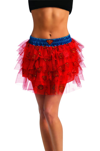 Womens Supergirl Skirt with Sequins - HalloweenCostumes4U.com - Adult Costumes