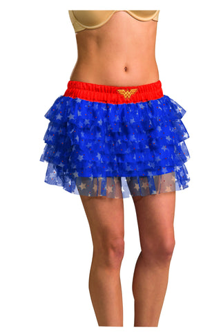 Womens Wonder Woman Skirt with Sequins - HalloweenCostumes4U.com - Adult Costumes