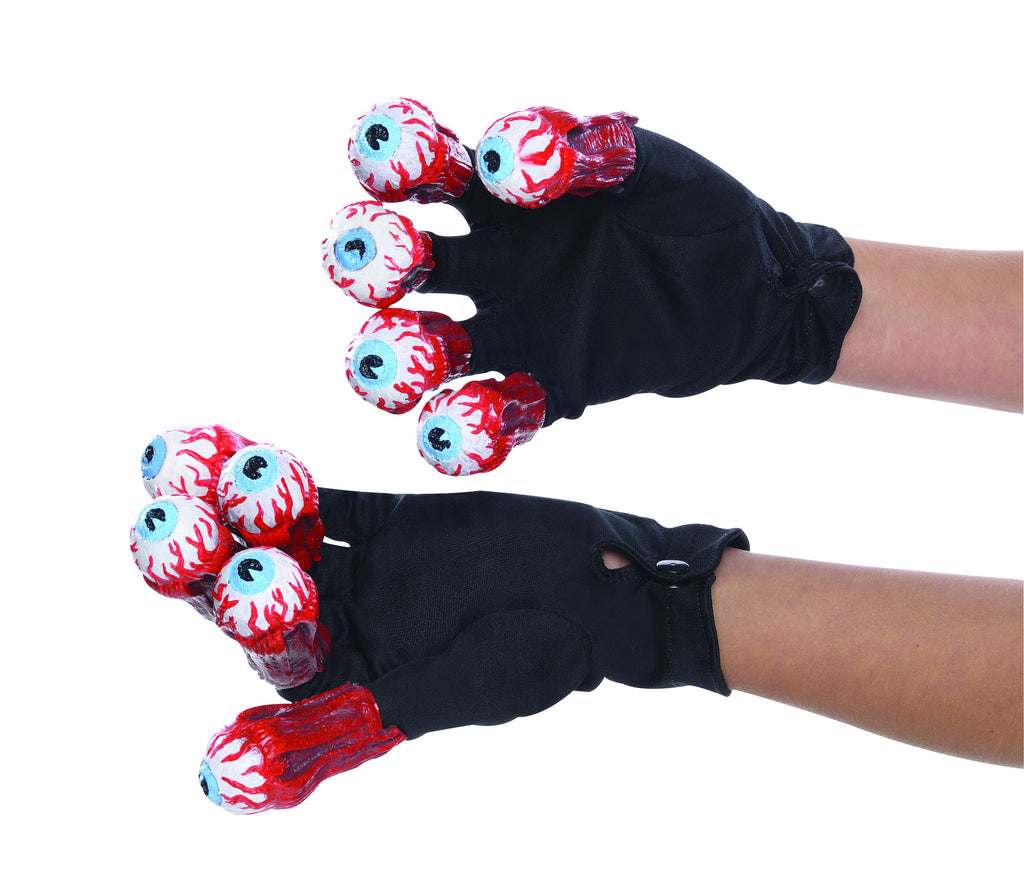 Beetlejuice Gloves with Eyeballs - HalloweenCostumes4U.com - Accessories