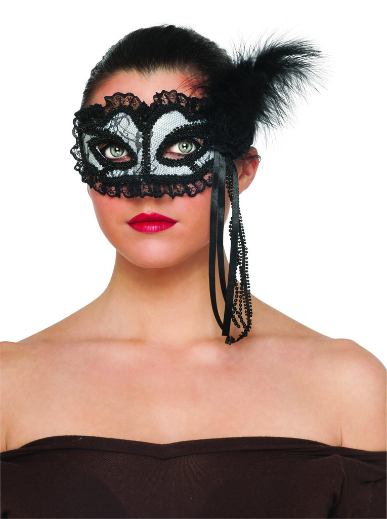 White Lace Mask - HalloweenCostumes4U.com - Accessories