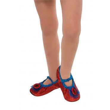 Kids Spider-Girl Slipper Shoes - HalloweenCostumes4U.com - Accessories