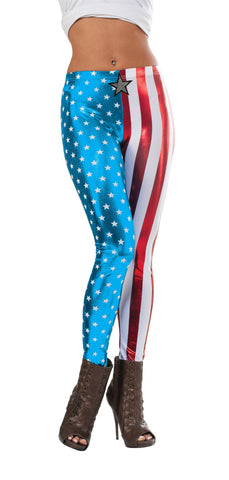 American Dream Metallic Leggings - HalloweenCostumes4U.com - Accessories