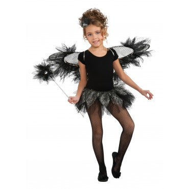 Girls Black Fairy Accessory Kit - HalloweenCostumes4U.com - Accessories