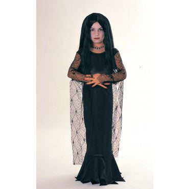 Girls Addams Family Morticia Costume - HalloweenCostumes4U.com - Kids Costumes