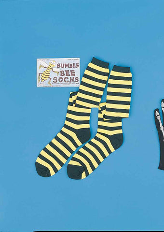 Halloween Costume Socks Bee Socks - HalloweenCostumes4U.com - Accessories