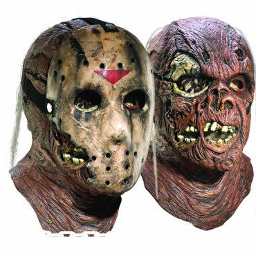 Friday the 13th Deluxe Dual Jason Mask - HalloweenCostumes4U.com - Accessories