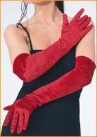 Red Velvet Gloves - HalloweenCostumes4U.com - Accessories